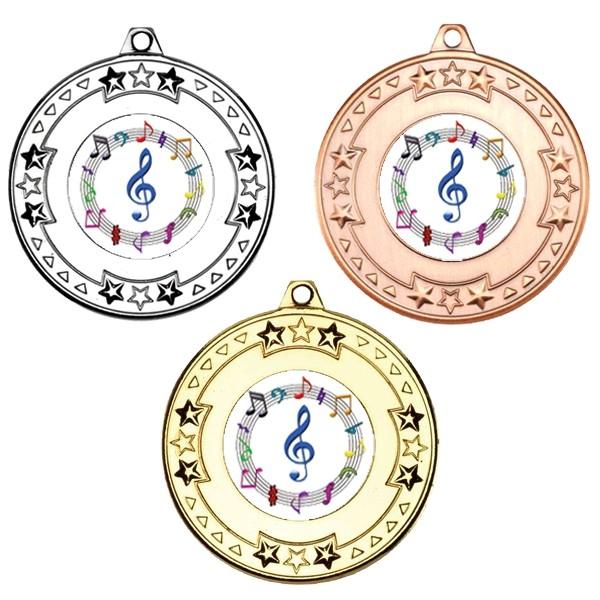 Music Tri Star Medals