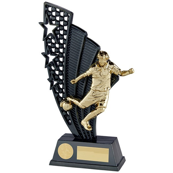 Star Force Football Plastic Plaque Gunmetal & Gold