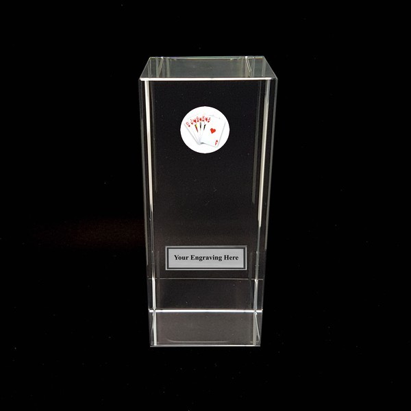 Clear Glass Block with Poker Insert