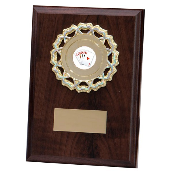 Shannon Cherrywood Plaque with Poker Insert