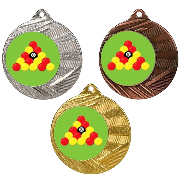 "Pool 50mm Medal with 1"" Centre"