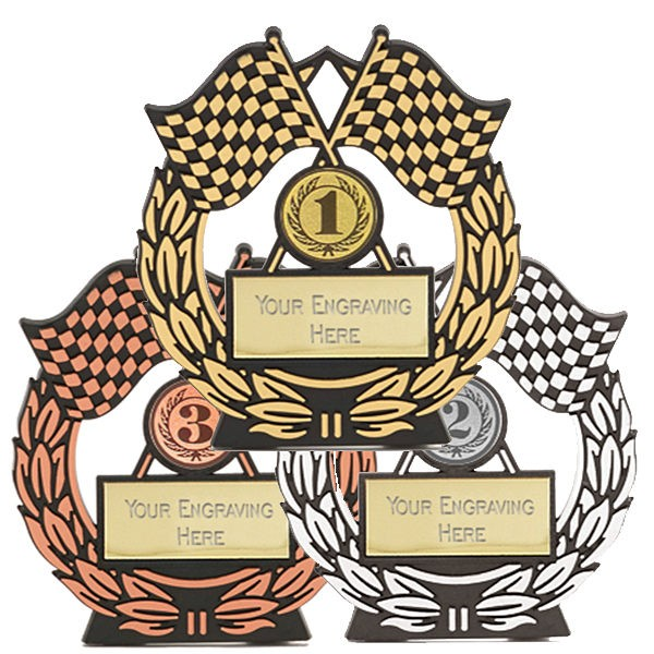 Mega Chequered Flag Trophy Set