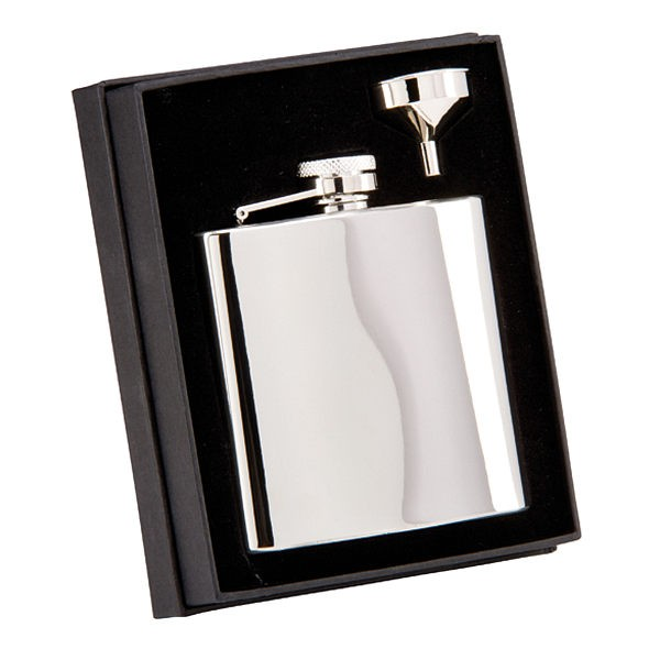 The Grand Flask Polished Steel
