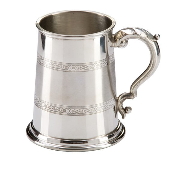 Celtic Band English Pewter Tankard