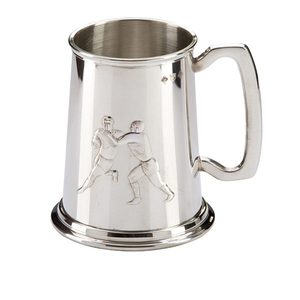 English Pewter Rugby Tankard