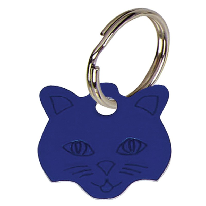 Cat face Anodised Alum Tag