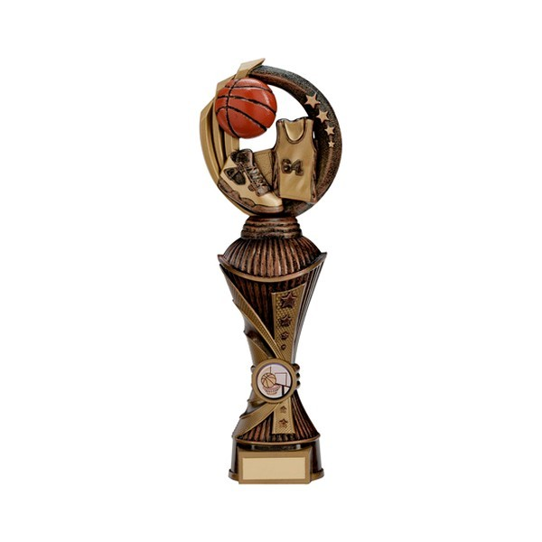 Renegade Basketball Heavyweight Award Antique Bronze & Gold