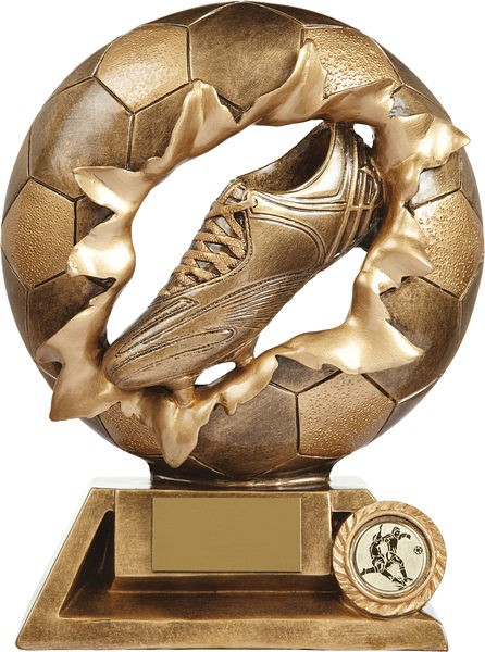 Gold Exploding Football Boot Trophy