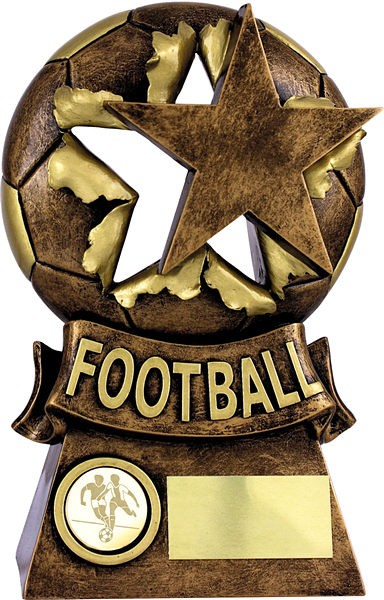 Gold and Bronze Exploding Star Football Trophy