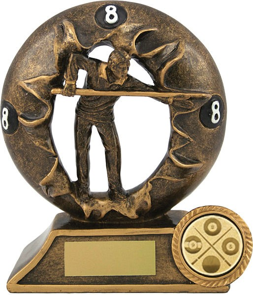 Bronze Pool Figure Trophy