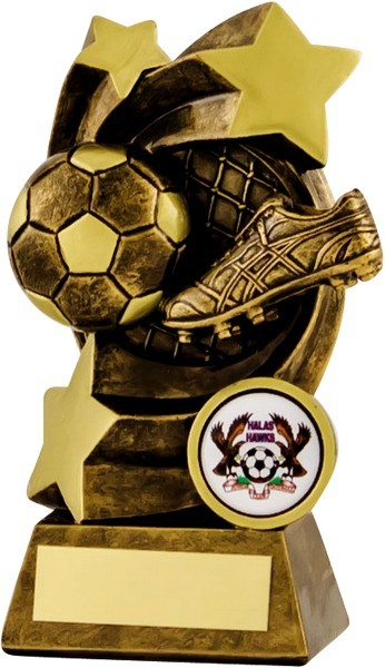 Bronze / Gold Football Boot and Ball Star Trophy