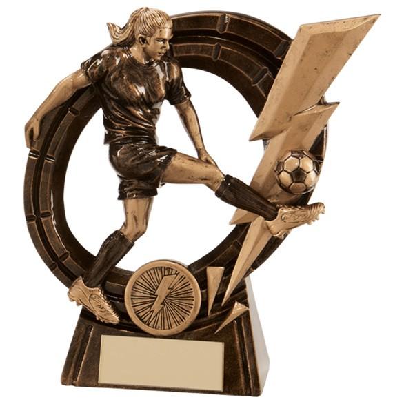 Thunderbolt Striker Football Award Female