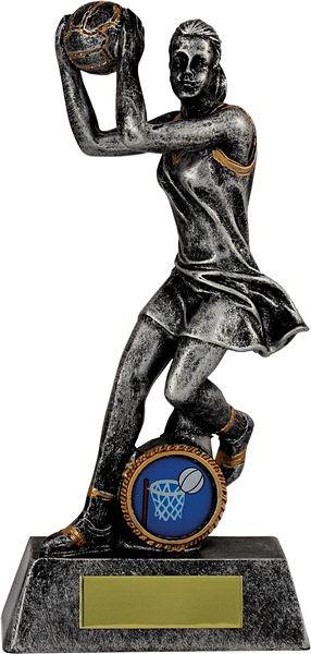 Silver Netball Figure Trophy