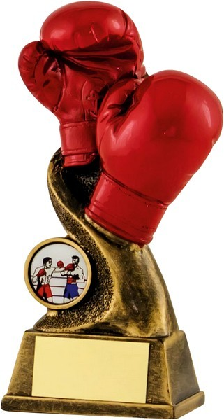 Bronze / Red Boxing Trophy