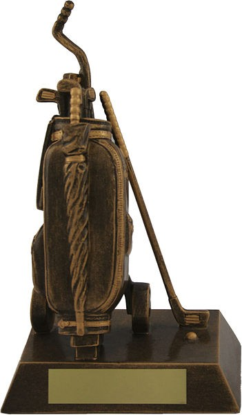 Bronze Golf Bag Trophy