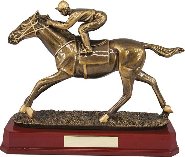 Bronze Horse and Jockey Trophy