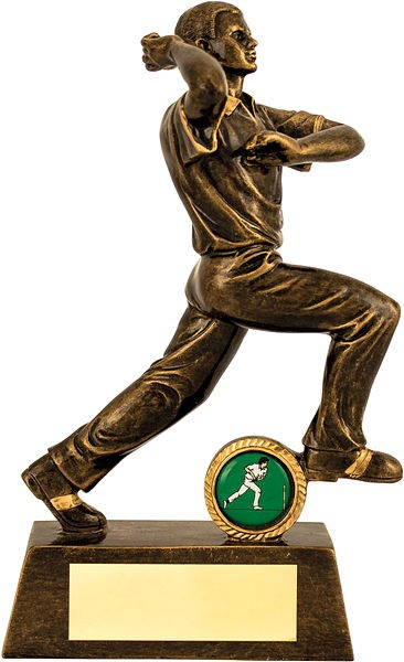 Bronze Cricket Bowler Trophy