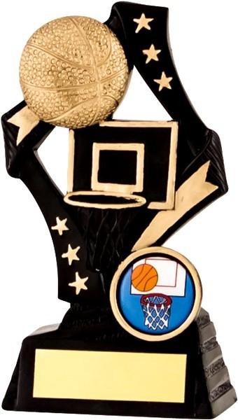 Black / Gold Basketball Star Trophy