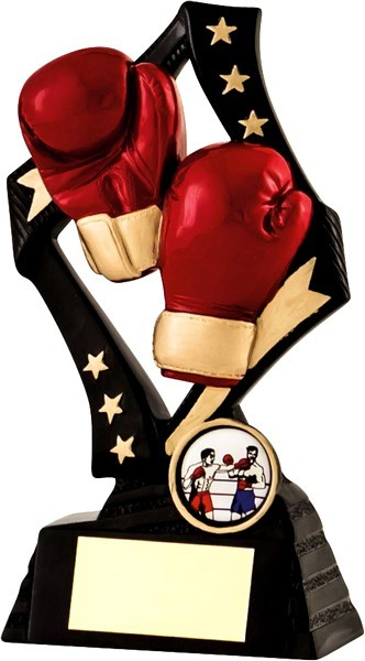 Black / Gold Boxing Star Trophy