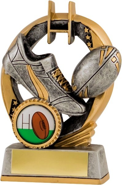 Gunmetal / Gold Rugby Trophy