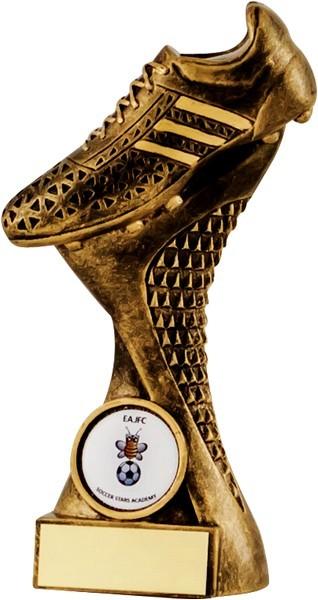 Bronze Football Boot Tower Trophy