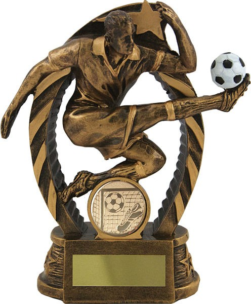 Bronze Striker Football Trophy