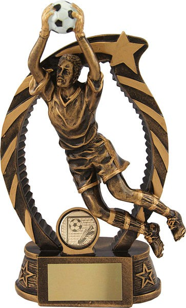 Bronze Goalie Football Trophy