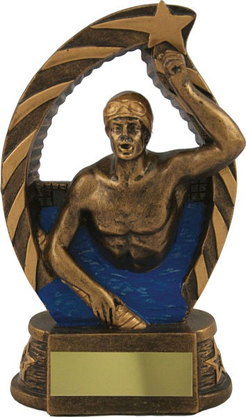 Bronze Male Swimming Trophy