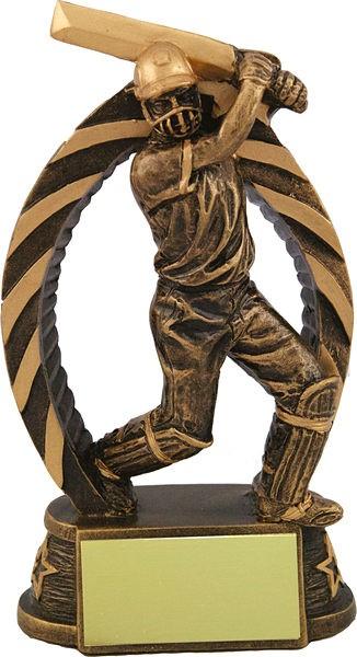Bronze Cricket Batsman Trophy