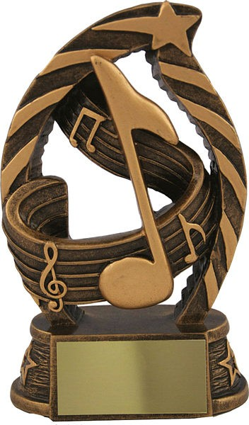 Bronze Music Note Trophy
