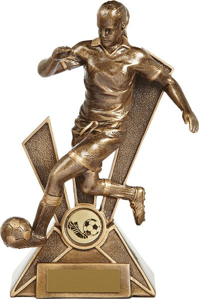 Gold Female Football Trophy