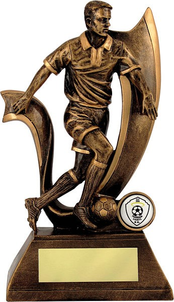 Bronze Male Football Trophy