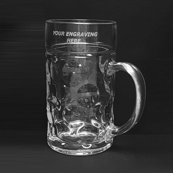 Rink Drink German Stein Beer Glass 2 pints
