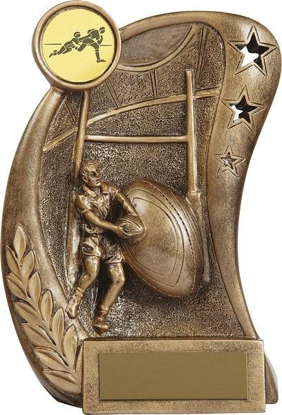 Bronze Rugby Trophy