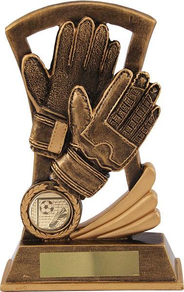 Bronze Goal Keeper Gloves Trophy