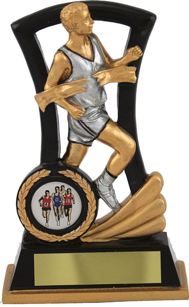 Black and Gold Male Athletics Trophy