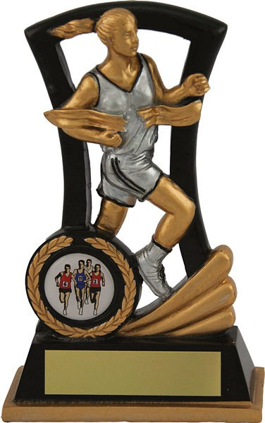 Black and Gold Female Athletics Trophy