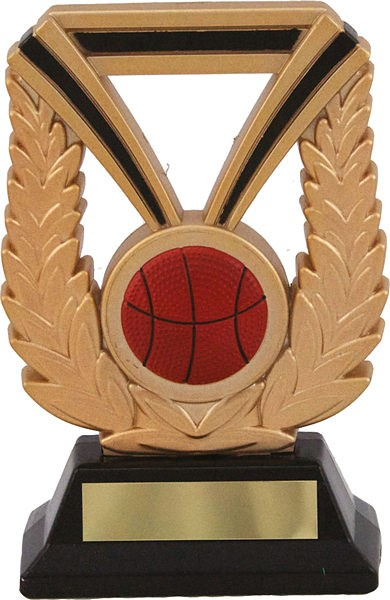 Gold Laurel Basketball Trophy