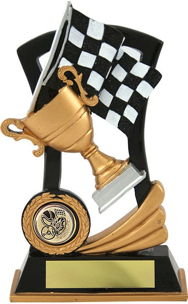 Gold and Black Motorsport Trophy