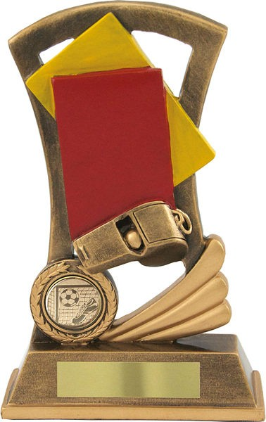 Bronze Referee Cards Football trophy