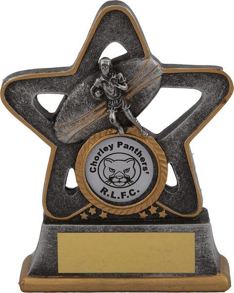 Silver Rugby Star Trophy