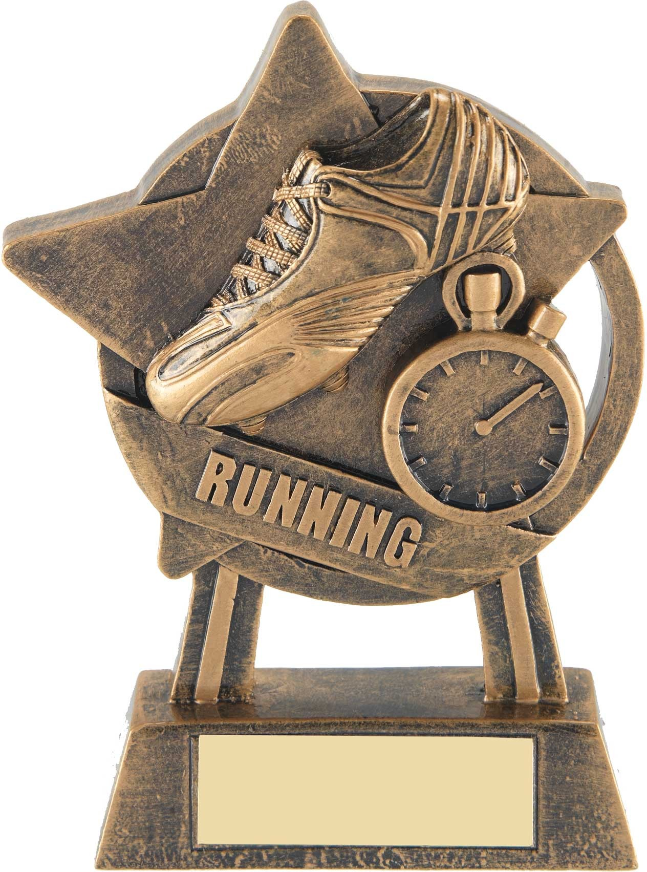 Bronze Star Running Trophy