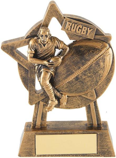 Bronze Rugby Star Trophy