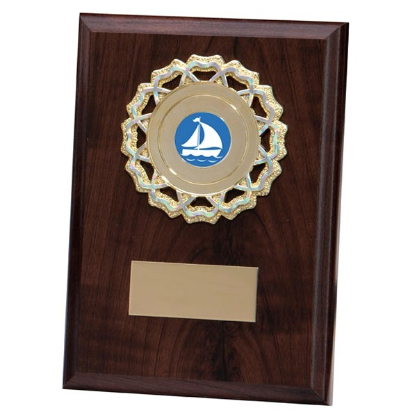 Shannon Cherrywood Plaque with Sailing Insert