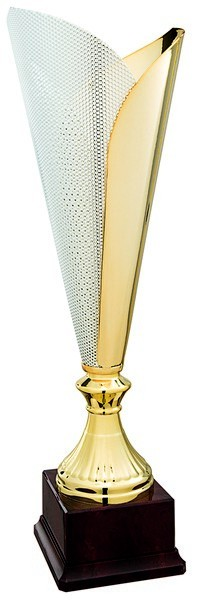 Gold Fluted Cup on Plastic Base