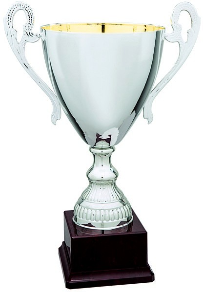Silver Cup on Plastic Base