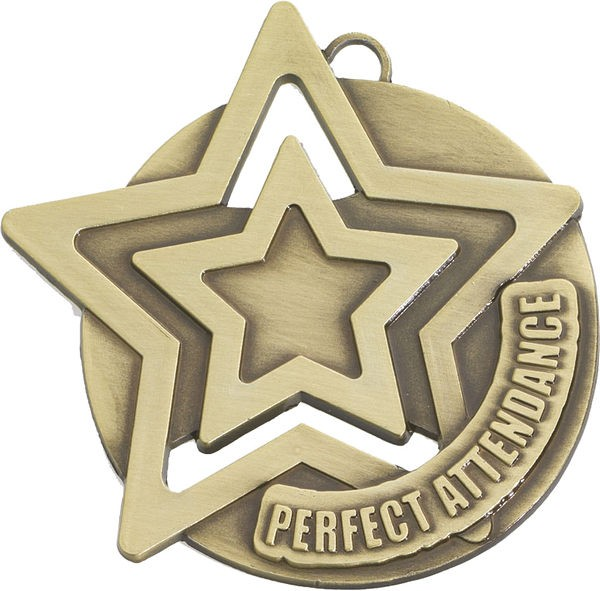 Perfect Attendance Star Medal