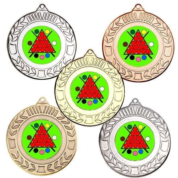 Snooker Wreath Medals