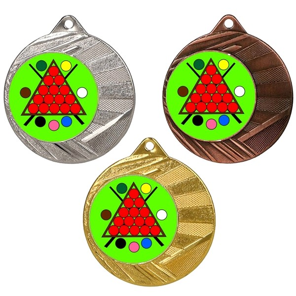 "Snooker 50mm Medal with 1"" Centre"