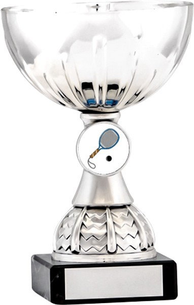 Silver Cup Trophy with Squash Insert